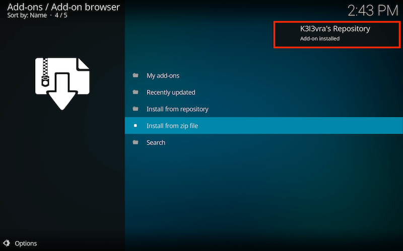 Install 1Channel Kodi Addon Step 5
